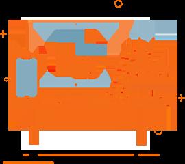 Ikona przedstawiająca komputer dla stron internetowych